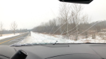 Ottawa drivers reports damage to vehicles from flying ice.