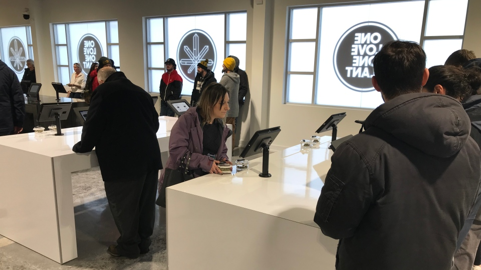 One Plant - Barrie's first cannabis retail store - opened its doors on Fri., Jan. 17, 2020. (Chris Garry/CTV News)