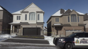 Police at the scene of a shooting in Waterloo's Vista Hills neighbourhood. (Jan. 17, 2020)