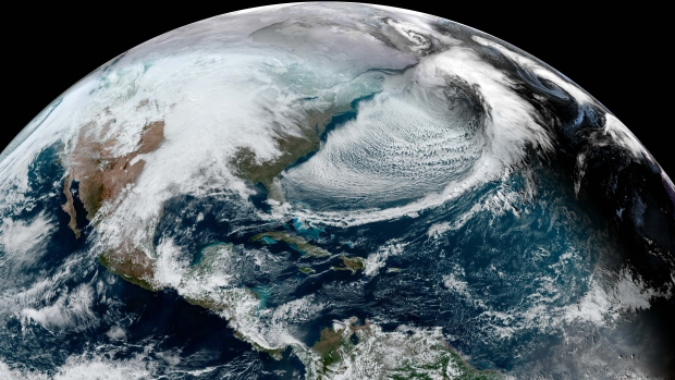 Snowstorm over Newfoundland and Labrador