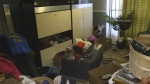 Items left behind after a rent-geared-to-income tenant was evicted is seen in London, Ont. (Reta Ismail / CTV London)
