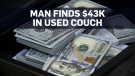 Man finds $43,000 in used couch, returns it