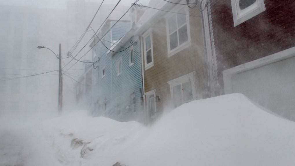 Newfoundlanders, hunkered down in blistering winter storm, stockpile their #stormchips