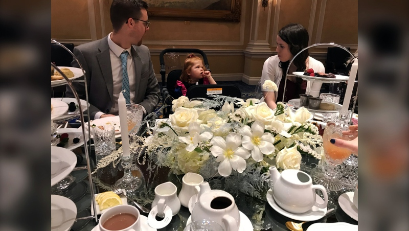 A terminally ill Calgary girl attends a princess tea party at the Palliser Hotel Friday