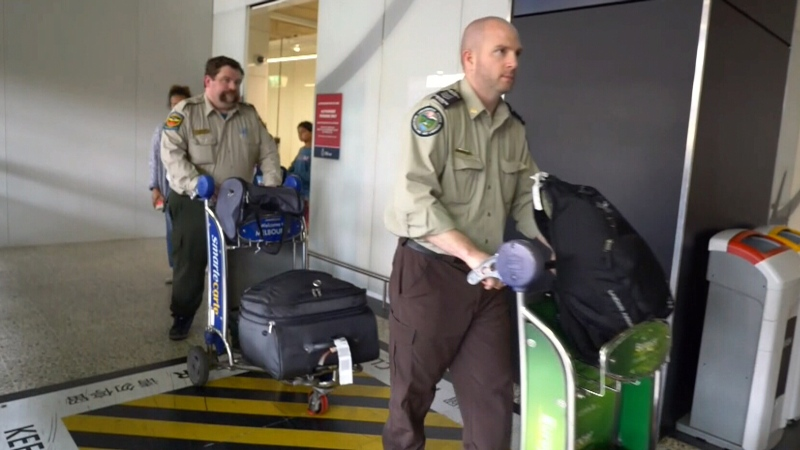 Canadian firefighters arrive in Melbourne to help fight fires in Australia.