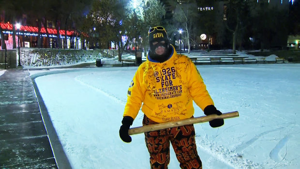 Skater Steve McNeil braves wind chill to raise funds for Alzheimer Society