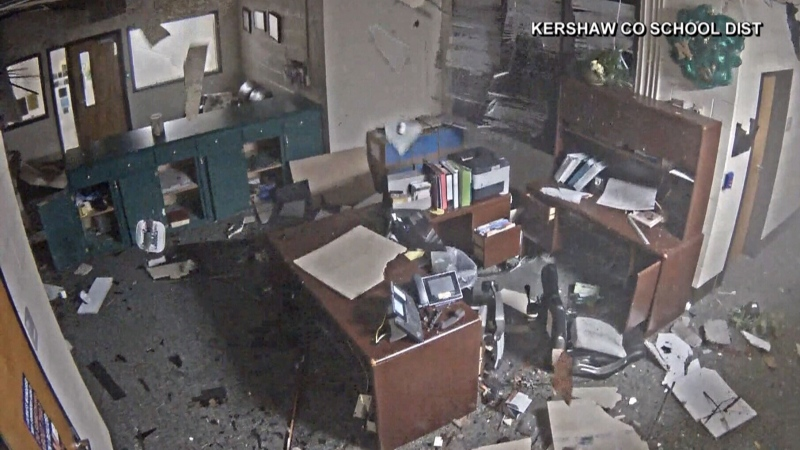 Caught on cam: Tornado tears through U.S. school