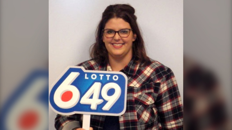 Erin Taefu, of Redcliff, Alta., won one million dollars in the October 16, 2019 Lotto 6/49 draw. (WCLC)