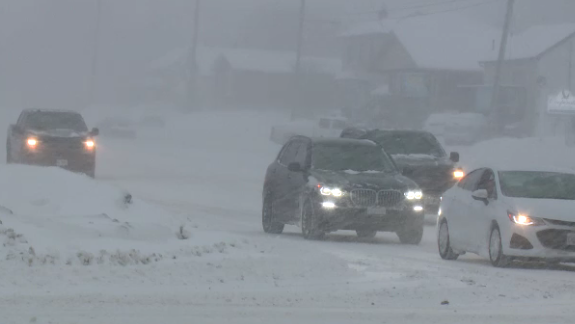 Snowfall in Sudbury
