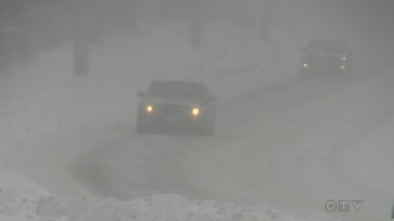 Major snow storm hits region