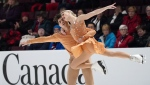 Piper Gilles and Paul Poirier compete during the senior ice dance free program at the 2020 Canadian Tire National Skating Championships in Mississauga, Ont., on Saturday, January 18, 2020. THE CANADIAN PRESS/Hans Deryk