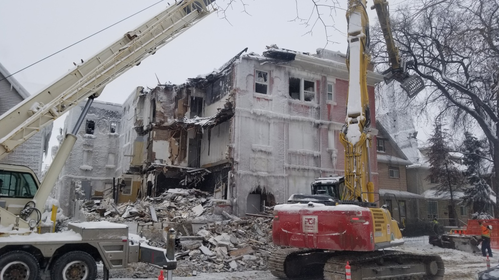 City begins demo of historic apartment building on Maryland Street