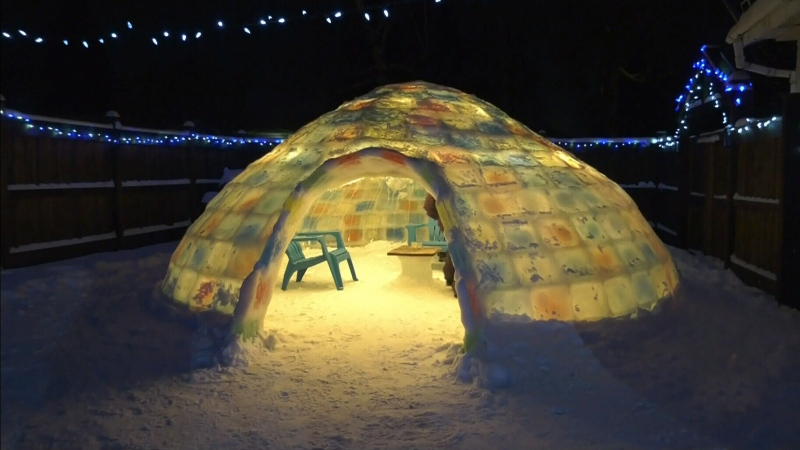 Five weeks later, Edmonton man finishes igloo