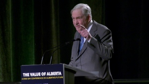 The 'Value of Alberta' conference in Calgary on Jan. 18, 2020, featured prominent political minds from across the country, as well as former media mogul Conrad Black.