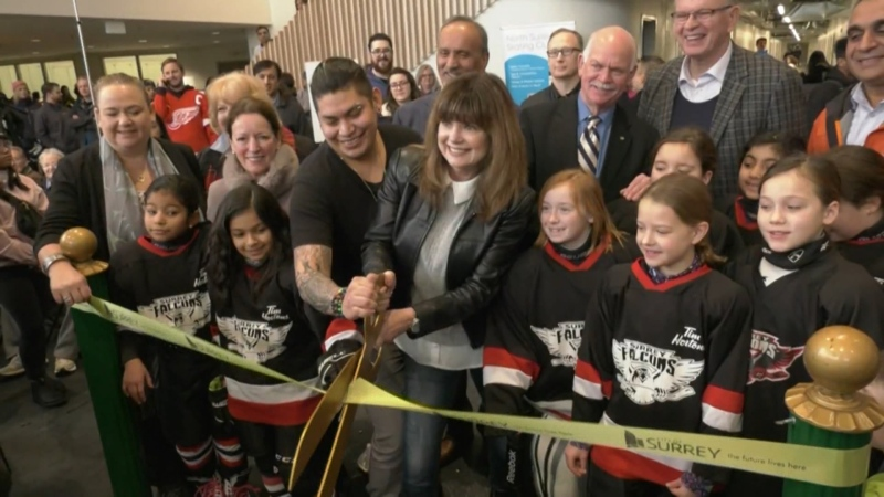 Surrey unveils new rec centre