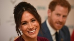 Prince Harry and Meghan have been stripped of their royal titles by the Queen. (AFP)