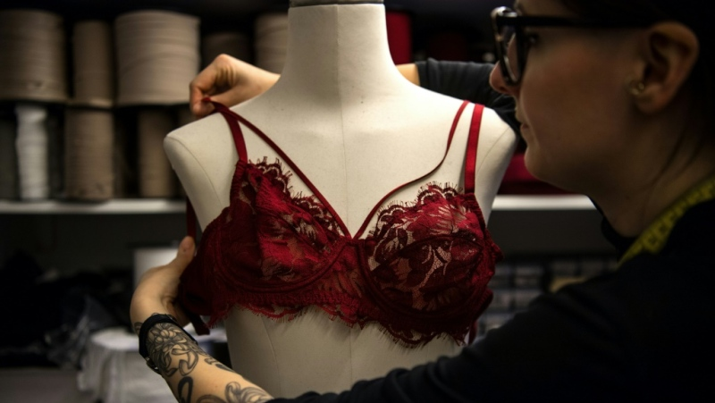 French lingerie designer Paloma Casile is one of the often young creators who want to see their industry become ecologically responsible. (AFP)