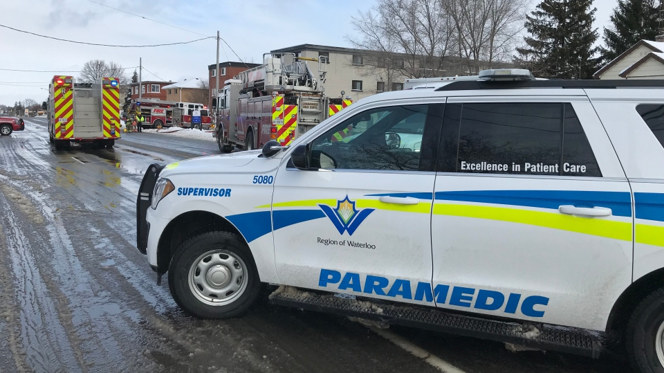 First responders were called to a residential fire on Lancaster Street West in Kitchener. (Johnny Mazza/CTV Kitchener) (Jan. 19, 2020)
