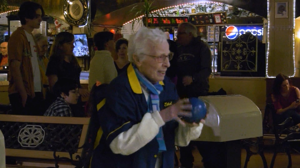 Ethel Morley turned 100 on Saturday, surrounded by friends and family at Commodore Lanes, where she's a dedicated member of the league. (CTV)