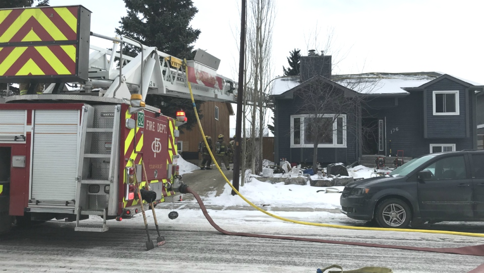 One man was rushed to hospital in critical condition after a house fire in the northeast Calgary community of Temple Sunday morning.