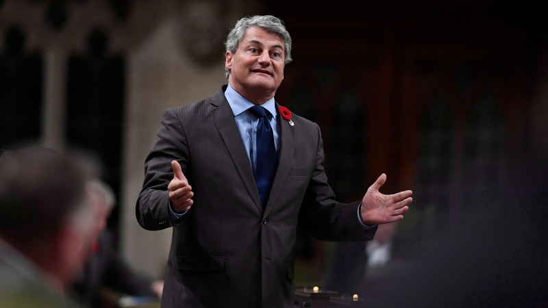 Conservative MP Gerard Deltell rises during Question Period in the House of Commons on Parliament Hill in Ottawa on Friday, Oct. 26, 2018. (THE CANADIAN PRESS / Justin Tang)