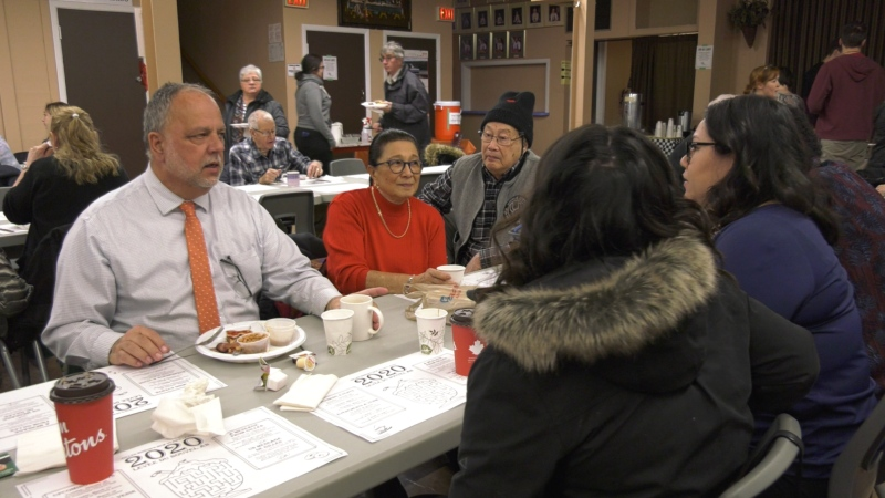 Timmins MPP Gilles Bisson hosted his annual New Year's breakfast buffet (Lydia Chubak/CTV Northern Ontario)