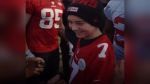13-year-old Boston Schaan from Regina got to meet the San Francisco 49ers ahead of their 2020 NFC Championship Game. (San Francisco 49ers/Twitter)