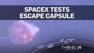 SpaceX destroys rocket in successful escape capsul
