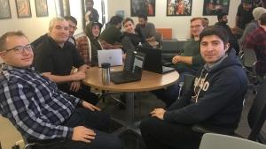Participants take part in a hackathon in Sudbury (Alana Everson/CTV Northern Ontario)