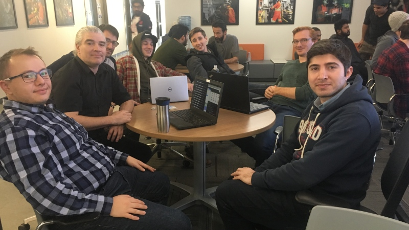 Participants take part in a hackathon in Sudbury (Alana Everson/CTV Northern Ontario)