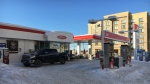 Timmins Police officials say this was the site of an robbery early Sunday morning (Lydia Chubak/CTV Northern Ontario)