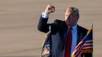 U.S. President Donald Trump arrives at the Austin-Bergstrom International Airport on Sunday, Jan. 19, 2019, in Austin, Texas. (Ana Ramirez/Austin American-Statesman via AP)