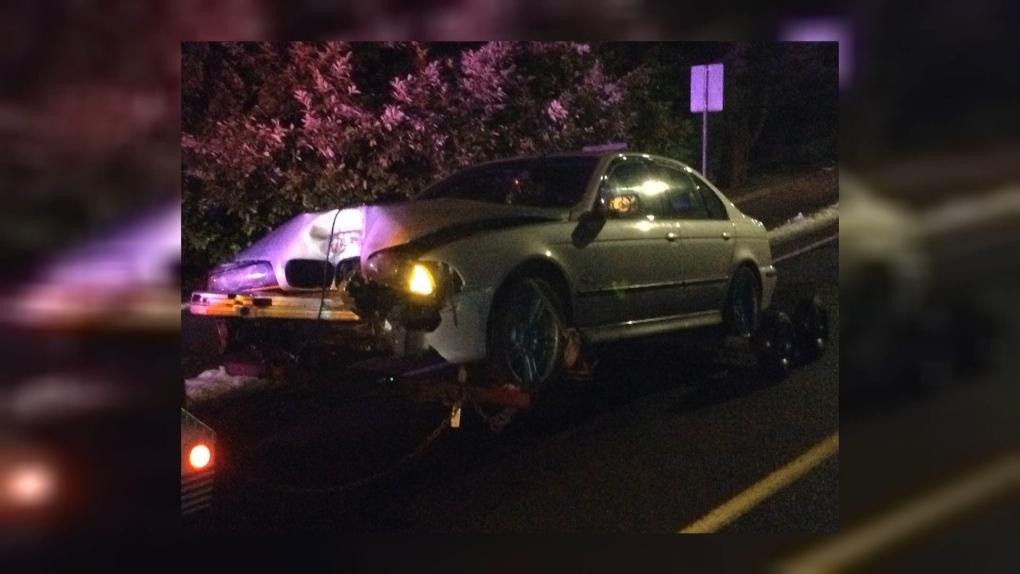 Saanich BMW crash