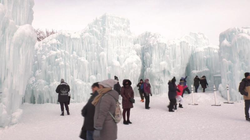 Ice castles, Edmonton, 2020