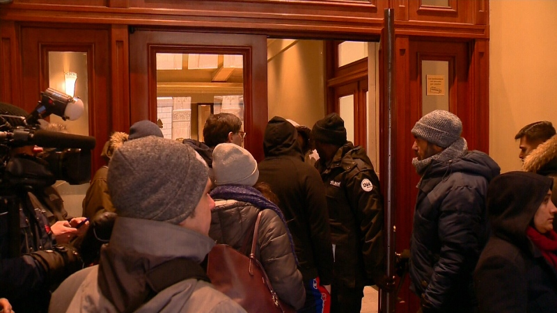 With the Quebec government accepting just 750 requests to sponsor a refugee as of Monday some Quebecers lined up through the weekend to try and secure a spot.