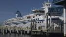 A ferry docked at Tsawwassen Ferry Terminal (file photo)