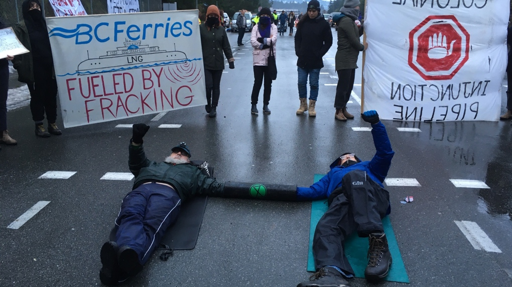 Pipeline protest impacts traffic at BC Ferries terminals