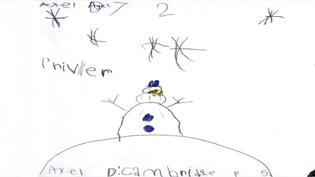 Axel, 7 years old, Grade 2, Cambridge P.S.