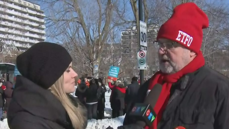 A rally is being held today at Elgin St. Public Sc