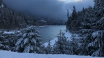 Snow on Buttle Lake, near Gold River and Campbell River. (Tracy Guss photo)