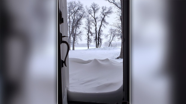 Opening the door in Portage la Prairie. Photo by Myrna Nichol.