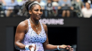 Serena Williams suffered a pulmonary embolism while giving birth in 2017. AFP