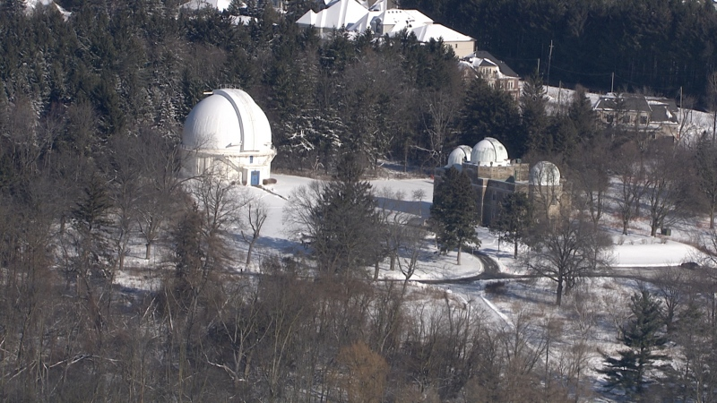 The David Dunlap Observatory is seen in this undated photograph taken from the CTV News Toronto chopper. (Phil Fraboni/CTV News Toronto)