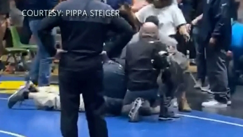 Man arrested after attacking high school wrestler