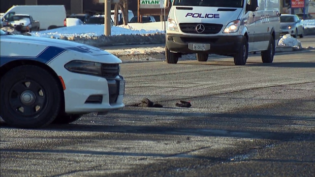 A man has died in hospital after he was struck by a vehicle in Mississauga Monday afternoon. (CTV News Toronto)