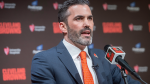 Cleveland Browns new NFL football head coach Kevin Stefanski answers a question during a news conference at FirstEnergy Stadium in Cleveland, Tuesday, Jan. 14, 2020. (AP / Phil Long)