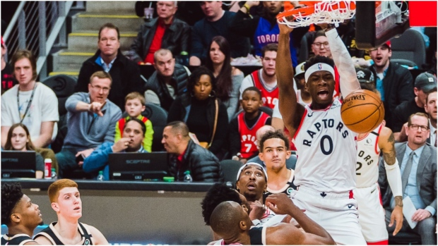 The Toronto Raptors extended their win streak to four games with their 120-117 victory over the Atlanta Hawks Monday afternoon. (Twitter/Toronto Raptors)