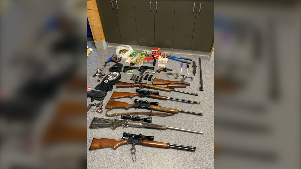 These guns were seized from two suspects, RCMP say. (Courtesy RCMP)