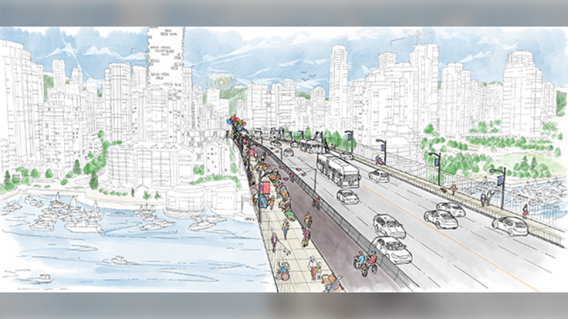 The Granville Street Bridge is shown in a concept sketch from the City of Vancouver.