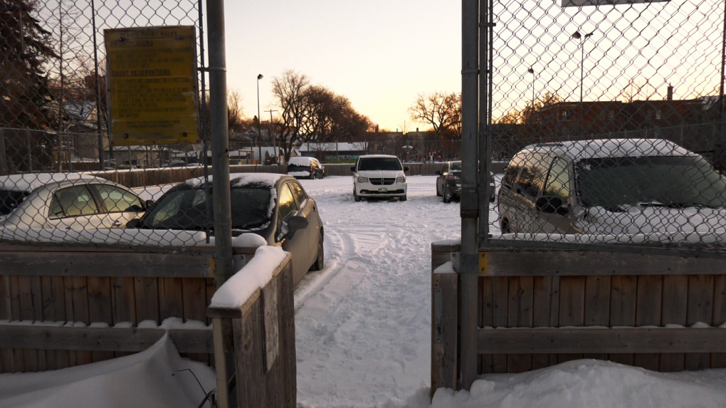 Community skating rink being used as parking lot could soon be flooded
